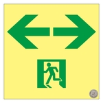 "High Brightness Phosphorescent Passage Guidance Sign ""← →"" _1"