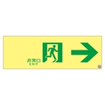 "High Brightness Phosphorescent Passage Guidance Sign ""Emergency Exit →"" ASN901"