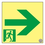"High Brightness Phosphorescent Passage Guidance Sign ""→"" _2"
