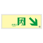 "High Brightness Phosphorescent Passage Guidance Sign ""Emergency Exit"" SUC-K020"