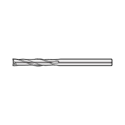 DXL 2-Flute Long End Mill For Copper Electrode/Aluminum/Plastic