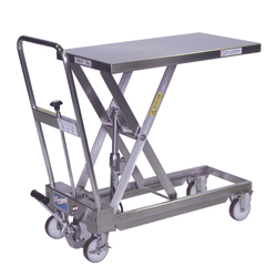 Hand-operated Lift Table Caddy, Stainless Steel Type