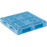 Plastic Pallet, General-Purpose Type, Light Blue/Black