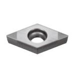 SUMIBORON Insert, 55° Diamond-Shape With Hole, Positive 7°, 2NC-DCGW