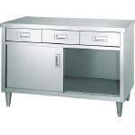 Stainless Steel Storage Box, Single Side Door / with Drawers & Legs