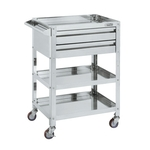 Super Wagon With 2-Level Drawer Specification - 4 Swivel Wheels