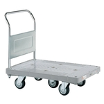 Resin Handcart, Five-Wheel Cart, Standard Caster, Fixed Handle Type