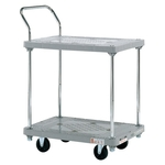 Resin Handcart, Silent Caster, 2-Level One-Side Handle
