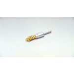 Cylindrical Brush with Caulking Tying Type Steel Plated Wire Tip Shaft (Yellowish Wire)