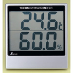 Digital temperature and hygrometer (free-standing / wall hanging)