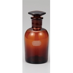Narrow-Mouthed Brown Reagent Bottle with Air Tight Lid and Capacity of 30 mL to 120 mL