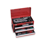 Tool set TSS450 (red, silver, black)