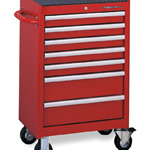 Tool cabinet set TCX911 (red, silver, black)