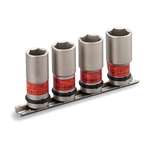 Thin Foil Nut Socket Set for Impact Wrenches (with Holder) HA404N