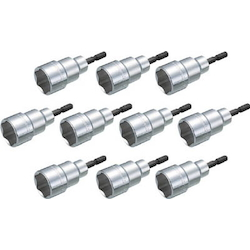 Electric Screwdriver Socket (Rechargeable Tool, 18 V Compatible), Set of 10 Units