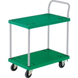 Plastic Trolley, Grand Cart, One-Side Handle 2-Level Type