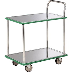 Stainless Steel Cart - One-Side Handle 2-Level Type