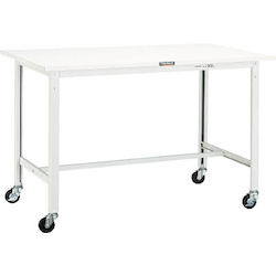 Light Work Bench with φ75 mm Casters Linoleum Tabletop Average Load (kg) 150