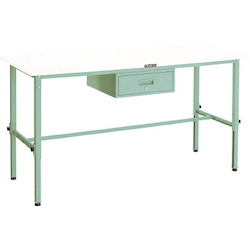 Lightweight Adjustable Height Work Bench with 1 Drawer Plastic Panel Tabletop Average Load (kg) 150