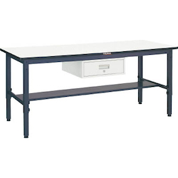 Lightweight Adjustable Height Work Bench with 1 Drawer Plastic Panel Tabletop Average Load (kg) 250