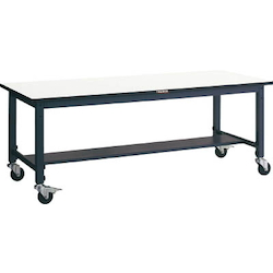 Lightweight Adjustable Height Work Bench with Casters Linoleum Tabletop Average Load (kg) 100