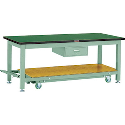 Movable Heavy Work Bench with 1 Drawer Linoleum Tabletop Average Load (kg) 3000