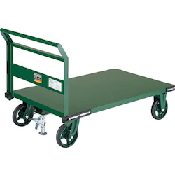 Steel Trolley, Fixed Handle Type, with Stopper, 800 x 450 to 1,200 x 750, Handle Height 900 mm