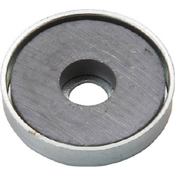Ferrite Magnet With Cap, Round, With Hole (1 Piece)