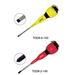 Screwdriver for electrical work with fall prevention (with magnet)