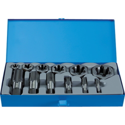 TRUSCO Hexagonal Die & Gas Pipe Tap Set For PS Screws