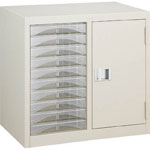 Letter Cabinet (A4 Combination Type with Door and Shelf)