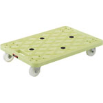 Anti-Static Resin Flat Trolley, Route Van, All Swivel Caster Type