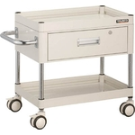 """Falcon Wagon"" Filing Trolley (Urethane Double-Caster Specification / with 1 Deep Drawer)"