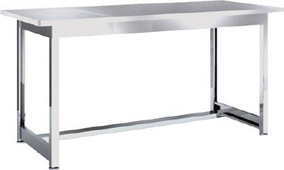 All Stainless Steel Workbench, H-Frame Type, SUS304, Equal Load (kg) 350