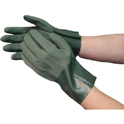 Nitrile, Rubber Gloves, Oil Resistant Towaron, Hard, (with Backing Cloth), 10 Pairs