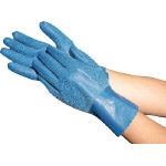 Natural Rubber Gloves Towaron Blue (with fabric lining)