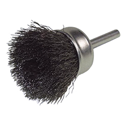 Steel Wire Cup Brush with Shaft