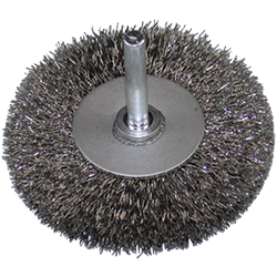 Stainless Steel Wheel Brush With Shaft