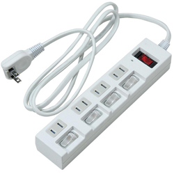 Power Strip with Localized Switches for Energy Conservation