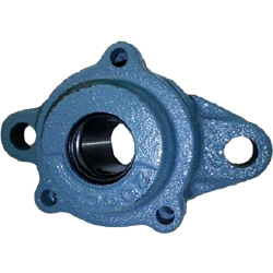 Rhombus Flange Unit, Cylindrical Hole Shape with Set Screw, CUCFL Type