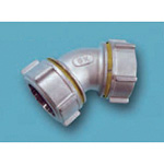 Tube Expansion Fitting for Stainless Steel Pipes, BK Joint, 45° Elbow