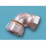 Tube Expansion Fitting for Stainless Steel Pipes, BK Joint, Elbow with Female Adapter