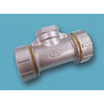 Tube Expansion Fitting for Stainless Steel Pipes, BK Joint, Tee with Female Adapter