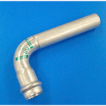 Double Press One End Socket 90° Elbow with Safety Function, for Stainless Steel Pipes