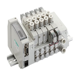Wire-Saving Block Manifold, MN4GD1/2R-T * Series Valve, Unit
