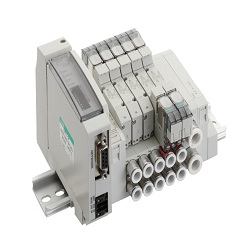 Wire-Saving Block Manifold, MN4GE1/2R-T * Series Valve, Unit