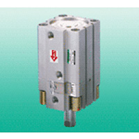 Super compact cylinder USSD series with intermediate stop function to prevent falling