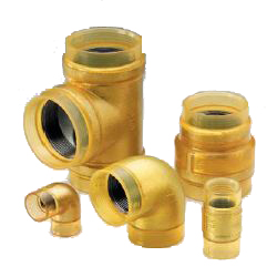 Exterior Transparent Insulation for Fire Extinguishing Pipes 10K Fitting VF Gold Elbow