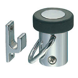 Radial Doorstop with Swing Stopper, Floor Mounted, RB-14