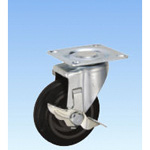 Silent Flow Caster, Swivel (with Rotation Stopper) PCJCS Type, Sizes 100 mm to 150 mm